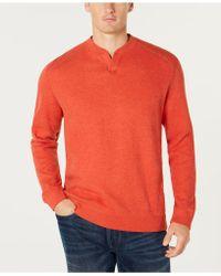 Tommy Bahama Flip Side Reversible Classic Pima Cotton Sweater - Orange