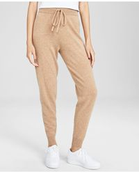 Charter Club Cashmere Jogger Pants, In Regular And Petites, Created For Macy's - Natural