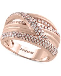Effy Collection - Effy® Diamond Crisscross Statement Ring (5/8 Ct. T.w.) In 14k Rose Gold - Lyst