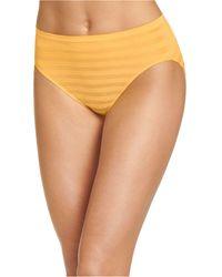 Jockey Seamfree Matte And Shine Hi-cut Underwear 1306, Extended Sizes - Orange