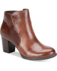 Born - Alter Zippered Booties - Lyst