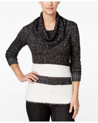 G.H.BASS - Striped Cowl-neck Sweater - Lyst