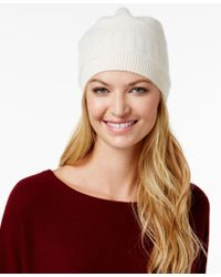 Charter Club - Cashmere Ribbed Hat, Only At Macy's - Lyst
