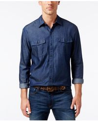Cutter & Buck - Men's Indigo Denim Twill Shirt - Lyst
