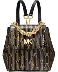 Michael Kors - Michael Mott Metallic Deco Convertible Backpack - Lyst