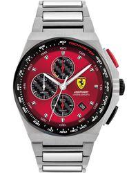 Ferrari Chronograph Aspire Stainless Steel Bracelet Watch 44mm - Metallic