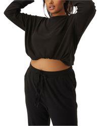 Cotton On Trendy Plus Size Super Soft Draw Cord Crew Sweater - Black