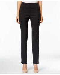 Charter Club Cambridge Plaid Slim Leg Pants, Only At Macy's - Gray