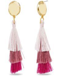 Catherine Malandrino - Tiered Pink Tassel Yellow Gold-tone Drop Earrings - Lyst