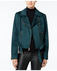 Wildflower | Faux-suede Moto Jacket, Only At Macy's | Lyst