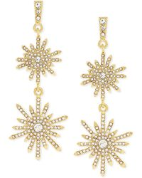 Vince Camuto - On Pointe Starburst Double-drop Earrings - Lyst