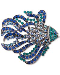 Anne Klein - Silver-tone Crystal Fish Pin, Created For Macy's - Lyst
