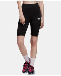 9ec0184a3da adidas Originals Garden Print 3-stripe Leggings in Black - Lyst