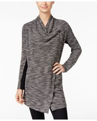 Style & Co. - Mixed-media Cascade-lapel Jacket - Lyst