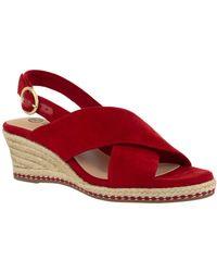 Bella Vita Nadette Ii Espadrille Sandals - Red