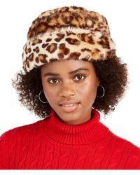 Nine West Faux Fur Cuff Cloche - Multicolour