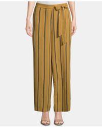 Eci Striped Tie-waist Ankle Pants - Multicolor