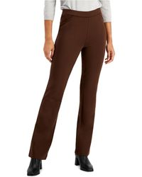 Style & Co. Ponte Knit Bootcut Pants, Created For Macy's - Brown