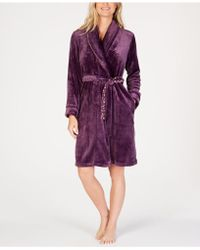 Sesoire - Fleece Knit Wrap Robe - Lyst