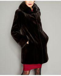 The Fur Vault - Mink Fur Reversible Coat - Lyst