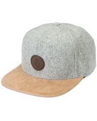 Volcom - Quarter Snapback Hat - Lyst