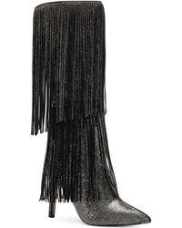 INC International Concepts Ishani Fringe Boots, Created For Macy's - Black