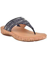 Easy Spirit Landry Thong Sandals - Blue