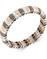 Nine West | Tri-tone Stretch Bracelet | Lyst