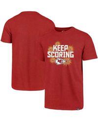 47 Brand Big And Tall Red Kansas City Chiefs Keep Scoring Regional Club T-shirt