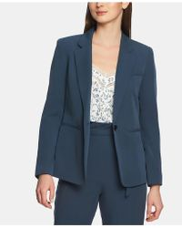 1.STATE One-button Washed-twill Jacket - Blue