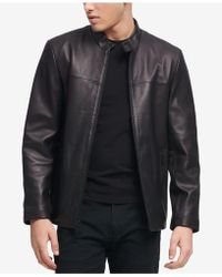DKNY - Leather Racer Jacket, Created For Macy's - Lyst