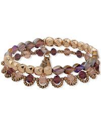 Lonna & Lilly Gold-tone 2-pc. Set Beaded Stretch Bracelets - Metallic