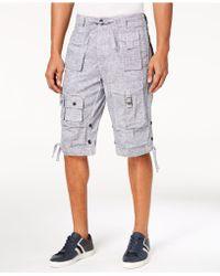 "Sean John Classic Flight Cargo 14"" Shorts, Created For Macy's - Multicolor"