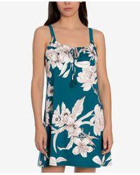 Linea Donatella Blaise Floral-print Chemise Nightgown - Blue
