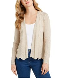 Charter Club Open-front Cardigan, Created For Macy's - Natural