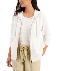 Style & Co. Zip Hoodie Sweatshirt, Created For Macy's - White