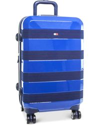 """Tommy Hilfiger - Rugby Stripe 20"""" Expandable Hardside Spinner Suitcase - Lyst"""