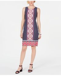 Charter Club - Petite Printed Shift Dress, Created For Macy's - Lyst