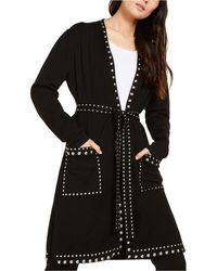 INC International Concepts Inc Studded Cardigan, Created For Macy's - Black