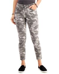 Style & Co. Camo-print Curvy Skinny Jeans, Created For Macy's - Grey