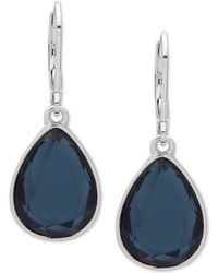 Nine West - Crystal Drop Earrings - Lyst
