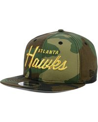 online store 7f8ec 0c7dd KTZ Atlanta Hawks 90s Throwback Groupie 9fifty Snapback Cap in Black for  Men - Save 53% - Lyst