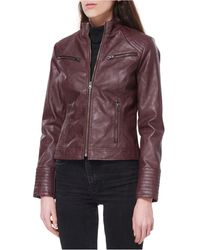 Maralyn & Me Juniors' Faux-leather Jacket, Created For Macy's - Multicolor