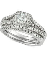 Macy's - Diamond Bridal Set (1-3/8 Ct. T.w.) In 14k White Gold - Lyst