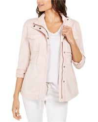 Style & Co. Twill Jacket, Created For Macy's - Pink