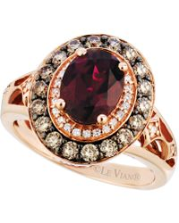 Le Vian | Garnet (2 Ct. T.w.) And Diamond (3/4 Ct. T.w.) Ring In 14k Rose Gold | Lyst