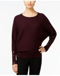 Alfani | Dolman-sleeve Ribbed Sweater, Only At Macy's | Lyst