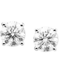 Macy's - Diamond Stud Earrings (2 Ct. T.w.) In 14k Gold Or White Gold - Lyst