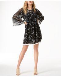 Kensie - Printed Trapeze Dress - Lyst