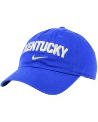 pretty nice e885c 0d733 Nike Kentucky Wildcats Campus Sport Adjustable Cap in Blue for Men - Lyst